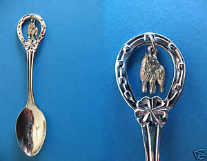 Primary image for LAKE LOUISE ALBERTA Souvenir Collector Spoon BIGHORN Mountain SHEEP Charm