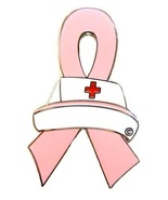 Breast Cancer Lapel Pin Nurse Cap Pink Awarenes... - $10.97