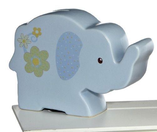 Aurora plush sweet little elephant blue ceramic piggy bank other - Ceramic elephant piggy bank ...