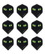 Ruthless Green Cat Eyes Standard Dart Flights - Micron-3 sets(9 flights) - $3.98