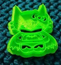 3D Printed Fan Art Cookie Cutter Inspired by Hello Kitty Batman - $7.00