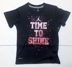 Air Jordan  Nike Boys Dri Fit T-Shirt Time To Shine Size 6 NWT - $16.09