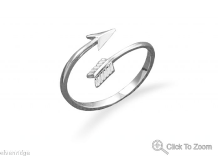 Aim High Arrow Wrap Around Ring Sterling Silver