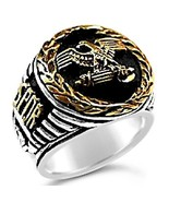 Roman Tribune Eagle mens signet ring    Sterlin... - $92.00