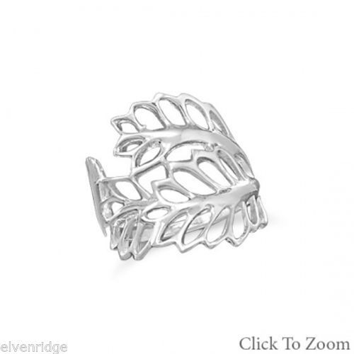 Cut Out Leaves Ring Sterling Silver