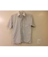 Marks & Spencer Men's Size L Shirt White Button-Down Blue Stripes Short ... - $34.64