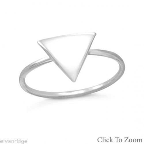 Small Triangle Ring Sterling Silver