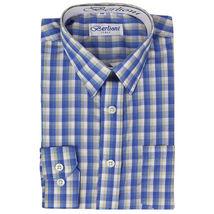 Berlioni Italy Boys Junior Kids Toddler Checkered Long Sleeve Dress Shirt image 3