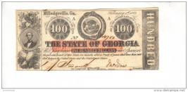 MILLEDGEVILLE---Georgia $100.00 (1863) RARE! GA-CR-6D-UNL---PCGS 63 UNC.... - $589.05