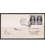 """U.S.A. Scott #628 pair """"NIGHT FLIGHT F.D.C."""" (SCARCE)!!!--(May/29/1926) ... - £22.37 GBP"""