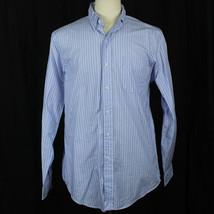 Ralph Lauren Custom Fit Blue Striped 100% Cotton Long Sleeve Shirt Men S... - $23.38