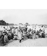 Children Rockaway Beach NY 1903 Vintage 8x10 Re... - $20.20