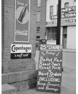 Coca Cola Sign 25 Cent Dinner Vintage 8x10 Reprint Of Old Photo - $19.99