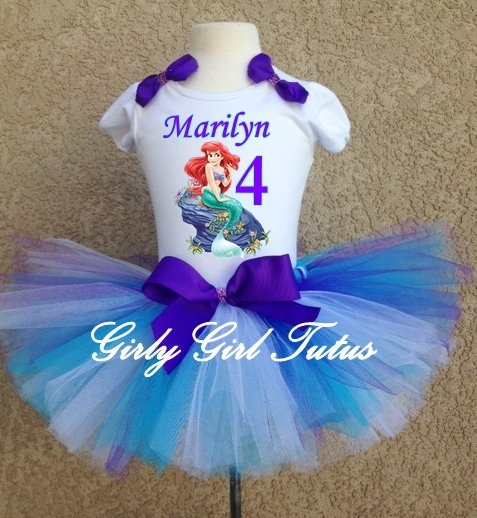 533da50a4e69 Ariel2. Ariel2. Previous. Princess Ariel Little Mermaid Birthday tutu  Outfit Dress Set