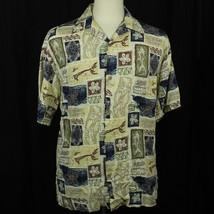 Hilo Hattie Hawaiian Floral Fish Camp Aloha Short Sleeve Shirt Men Sz M EUC - $23.38