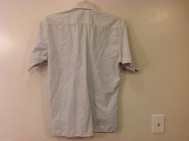 Marks & Spencer Men's Size L Shirt White Button-Down Blue Stripes Short Sleeves image 6