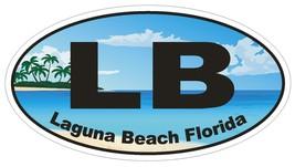 Laguna Beach Florida Oval Bumper Sticker or Helmet Sticker D1150 - $1.39+