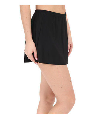 Primary image for NEW Miraclesuit 449103 Black Solid Swimwear Skirted Bottom Skirtini size 8 $74