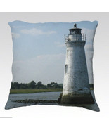The Lighthouse Throw Pillow Cushion Cover Home ... - $35.00