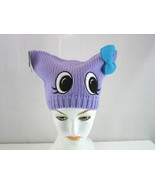 Womens Hot Topic Beanie Hat Purple Face New Square One Size  - £6.07 GBP