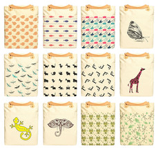 Animal Patterns Printed 100% cotton Canvas Leather Straps Laptop Backpac... - $26.38