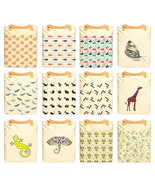 Animal Patterns Printed 100% cotton Canvas Leat... - $26.38