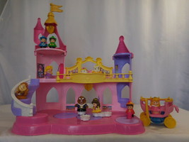 Little People Disney Princess Musical Dancing Castle Palace + Fairy Godm... - $67.35
