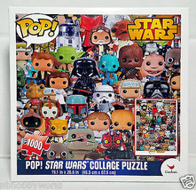 POP STAR WARS COLLAGE PUZZLE Official Funko Licensed by Cardinal 1000 pi... - $18.50