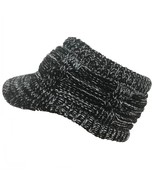 Women winter Warm knitted hat with brim Elastic Visor Ponytail Beanies caps - $11.06