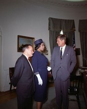 President John F. Kennedy with singer Marian Anderson New 8x10 Photo - $7.83