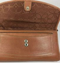 Fossil Brown Leather Clutch Wallet image 3