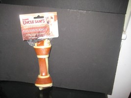 "Uncle Sam's 6"" Pork Ribbon rawhide bone - $1.99"