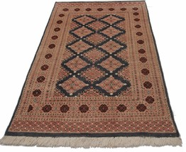 3' 11 x 6' 1 New Hand Knotted Wool and Silk Are... - $279.57