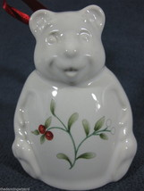 Pfaltzgraff Winterberry Figural Bear Bell Christmas Holiday 1994 Ornament - $13.98