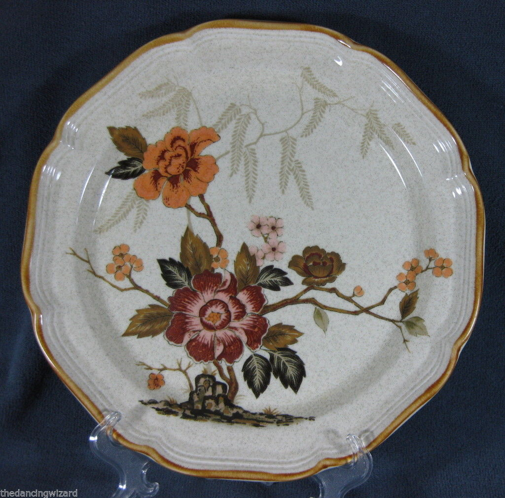 Primary image for Mikasa Garden Club EC459 Imperial Garden Dinner Plates (M3) Flowers Floral EUC