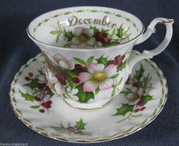 Royal Albert Flower Of Month December Christmas Rose Tea Cup Saucer Set - $42.03