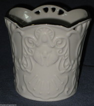 Lenox Merry Lights Angel Votive Candle Holder Sculpted Bas-relief LN - $13.98