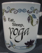 Eat Sleep Yoga Coffee Mug Cup Ganz Ceramic 10oz - $15.11