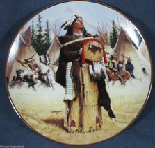 Pine Leaf 4th David Wright Noble American Indian Women Collector Plate w... - $40.16
