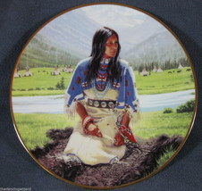 Falling Star David Wright Noble American Indian Women Collector Plate wi... - $37.36
