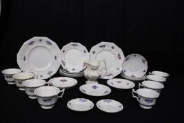 25pc 1840's Lot of Antique CHELSEA GRAPE / GRANDMOTHER'S WARE Porcelain ... - $169.99