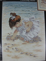 Janlynn Collecting Shells Counted Cross Stitch Kit Sealed 29-19 Beach Nancy Cole - $18.66