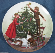 Christmas Americana Holidays 1983 Knowles Collector Plate Don Spaulding COA - $16.79