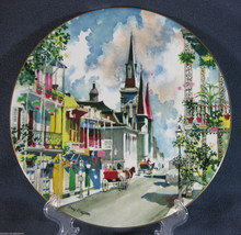 Royal Doulton Ports Of Call French Quarter New Orleans Collector Plate 1976 - $26.14