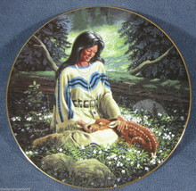 Wild Flower David Wright Princess Of The Plains Collector Plate with COA - $27.50