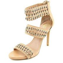Vince Camuto Women's FANCLE Dress Sandal CASHEW SOFT,9 - $56.99