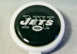 NEW YORK JETS LARGE FACE BADGE REEL id holder k... - $4.90