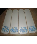 "CUSTOM- 42"" WHITE CEILING FAN WITH BLUE WILLOW CHINA PATTERN TEA CUPS - $99.99"