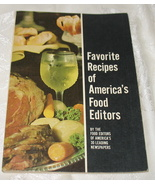Favorite Recipes of America's Food Editors 1970 - $9.99