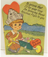 E. ROSEN VALENTINE LOLLIPOP HOLDER CARD WWII SO... - $9.99